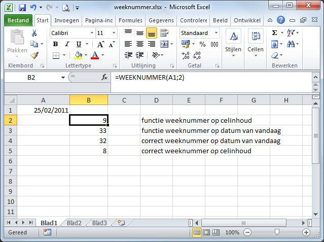 Citaten Weergeven Excel : Gratis tips excel weeknummer weergeven