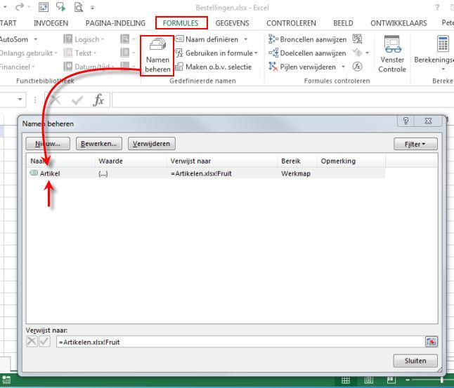 Gratis Tips Excel Validatielijst Met Lijst Uit Andere Werkmap