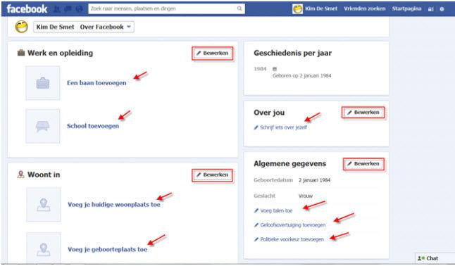 knop toevoegen facebook