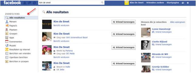 gratis cursus Facebook - Vrienden zoeken en toevoegen (1)
