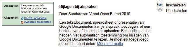 agenda delen google