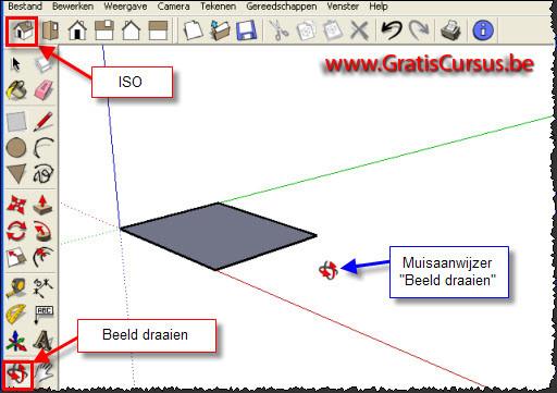 Gratis cursus google sketchup 3d tekenen met line tool 1 for Tekenen 3d