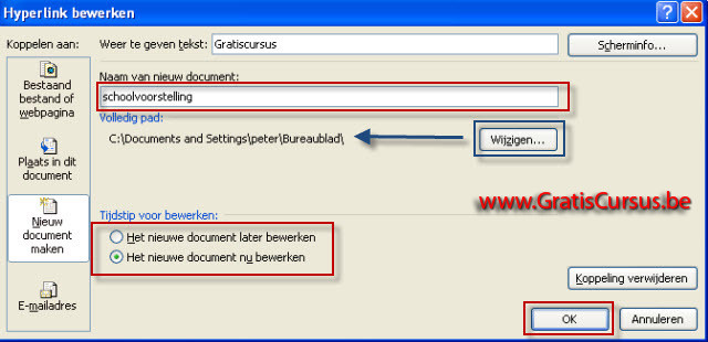 cursus PowerPoint 2007 - Hyperlinks